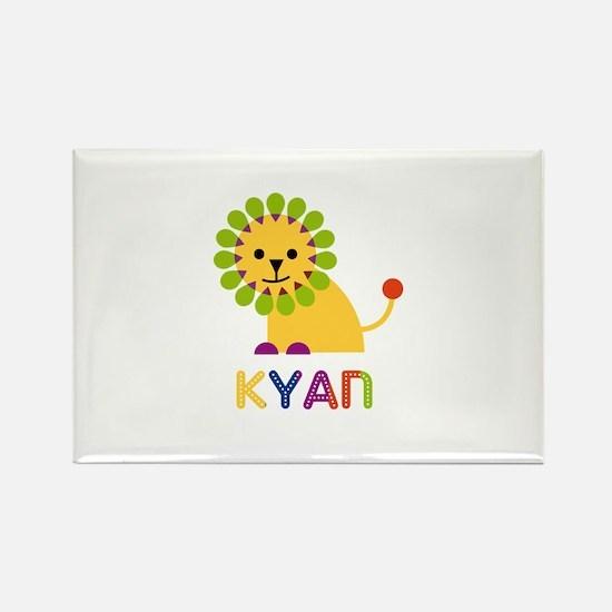 Kyan Loves Lions Rectangle Magnet