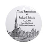 Settembrini and Schock Porcelain Ornament (Round)