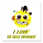 I LOVE the Great Outdoors! Square Car Magnet 3