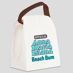 Anna Maria Island Beach Bum Canvas Lunch Bag