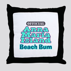 Anna Maria Island Beach Bum Throw Pillow