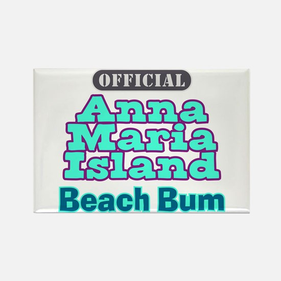 Anna Maria Island Beach Bum Rectangle Magnet