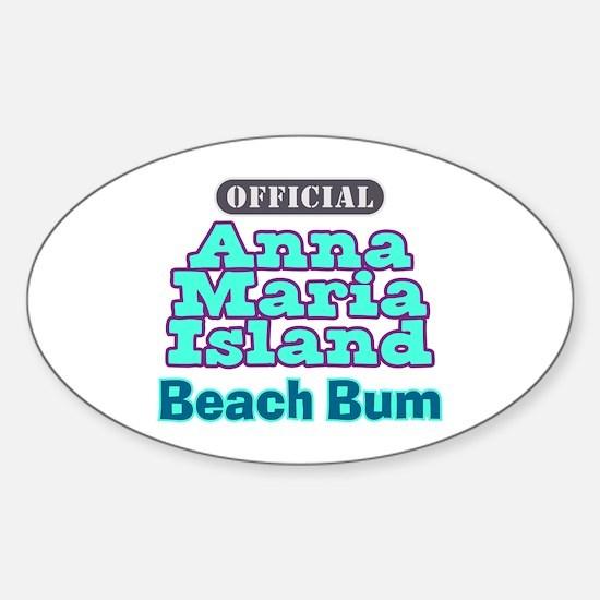 Anna Maria Island Beach Bum Sticker (Oval)