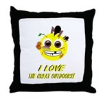 I LOVE the Great Outdoors! Throw Pillow
