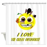 I LOVE the Great Outdoors! Shower Curtain