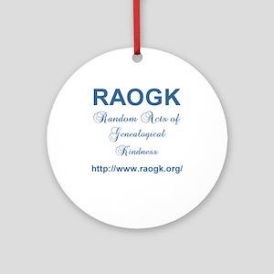 RAOGK Genealogy Ornament (Round)