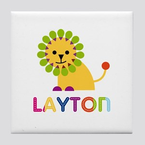 Layton Loves Lions Tile Coaster