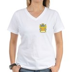 Casine Women's V-Neck T-Shirt