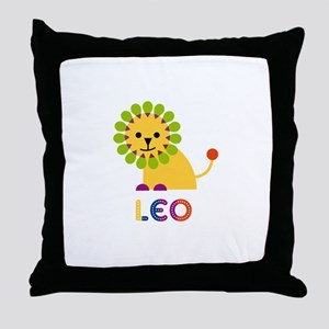 Leo Loves Lions Throw Pillow
