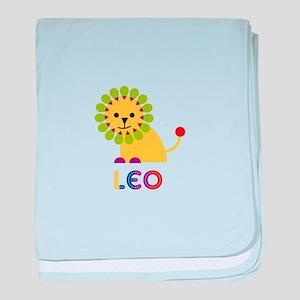 Leo Loves Lions baby blanket