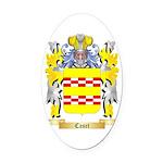 Caset Oval Car Magnet