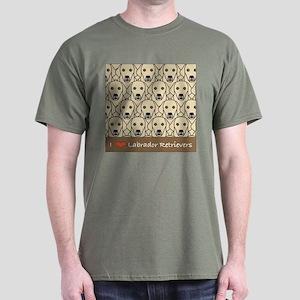 I Love Yellow Labs Dark T-Shirt
