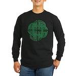Celtic Four Leaf Clover Long Sleeve Dark T-Shirt