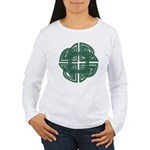 Celtic Four Leaf Clover Women's Long Sleeve T-Shir