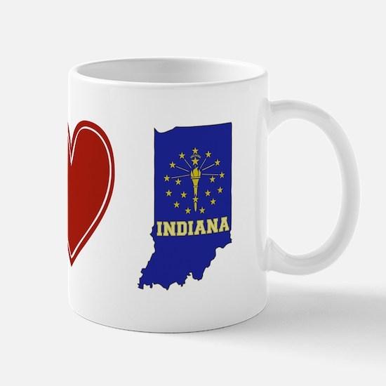 Peace Love Indiana Mug