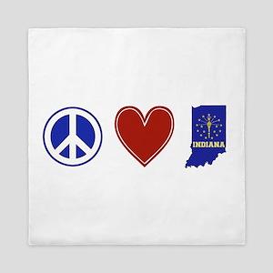 Peace Love Indiana Queen Duvet