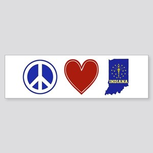 Peace Love Indiana Sticker (Bumper)