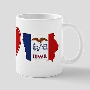 Peace Love Iowa Mug