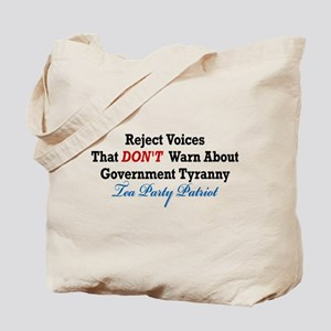 Government Tyranny Tea Party Patriot Tote Bag