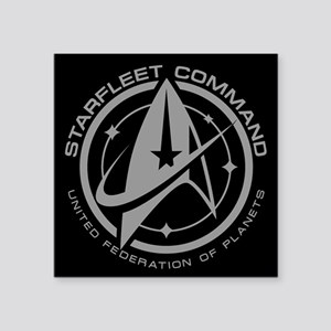 Grey Starfleet Command Emblem Sticker