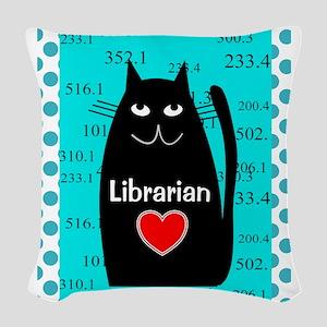 Librarian Woven Throw Pillow