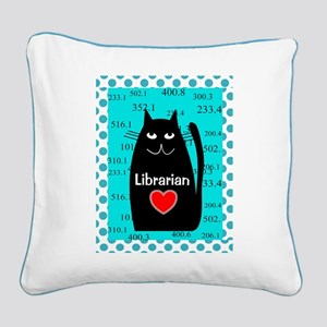 Librarian Square Canvas Pillow