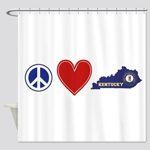 Peace Love Kentucky Shower Curtain