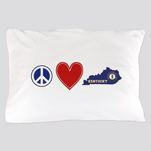 Peace Love Kentucky Pillow Case