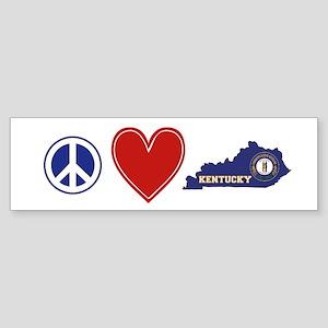 Peace Love Kentucky Sticker (Bumper)