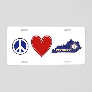 Peace Love Kentucky Aluminum License Plate