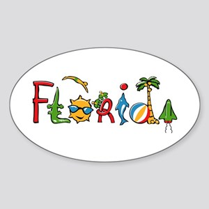 Florida Spirit Oval Sticker