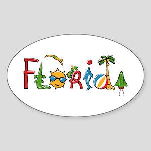 Florida Spirit Oval Sticker