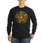 Celtic Pentacle Spiral Long Sleeve Dark T-Shirt