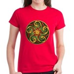 Celtic Pentacle Spiral Women's Dark T-Shirt