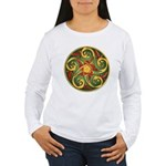 Celtic Pentacle Spiral Women's Long Sleeve T-Shirt