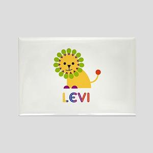 Levi Loves Lions Rectangle Magnet