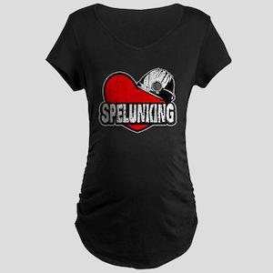 Heart Spelunking Maternity T-Shirt