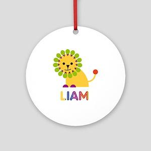 Liam Loves Lions Ornament (Round)