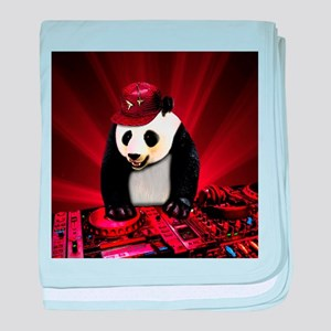 Deejay panda baby blanket