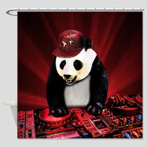 Deejay panda Shower Curtain