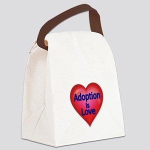 Adoption is love Canvas Lunch Bag