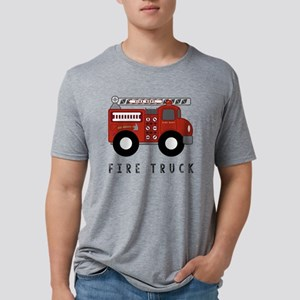 Fire Truck Mens Tri-blend T-Shirt
