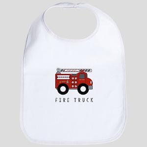 Fire Truck Baby Bib
