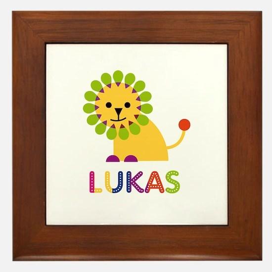 Lukas Loves Lions Framed Tile