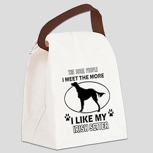 Irish Setter doggy designs Canvas Lunch Bag