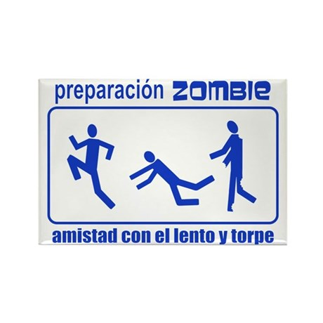 Zombie Preparedness Spanish Rectangle Magnet