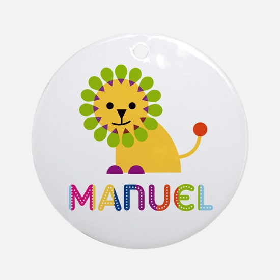 Manuel Loves Lions Ornament (Round)