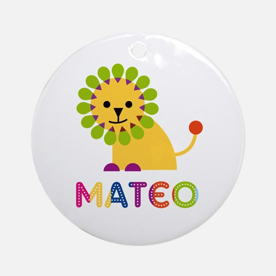 Mateo Loves Lions Ornament (Round)