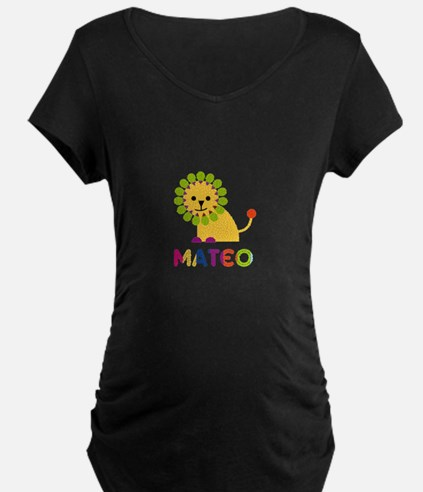 Mateo Loves Lions Maternity T-Shirt