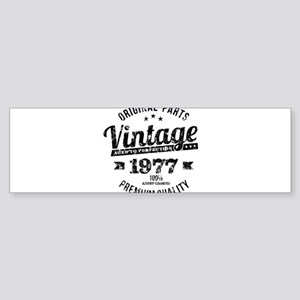 1977 Vintage Year Funny 40th Birthd Bumper Sticker